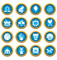 circus icons set simple style vector image