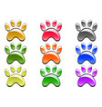 color paw prints icon vector image vector image