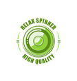 color spinner label vector image vector image