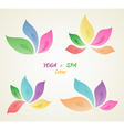 Colored flowers for your design vector image vector image