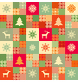 colorful seamless patchwork style background chris vector image vector image