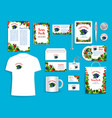 corporate identity items for berry company vector image vector image