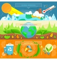 Ecology Banner Set design Flat vector image vector image