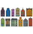 europe house and apartments set of cute vector image vector image