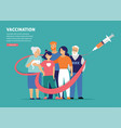 family vaccination concept design time to vector image vector image