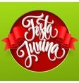 festa junina party greeting design vector image