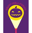 flashlight pumpkin vector image vector image
