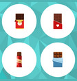 flat icon cacao set of sweet chocolate chocolate vector image vector image