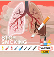 flat no smoking template vector image