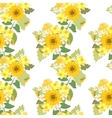 Floral sunflower narcissus strawberry flowers vector image vector image