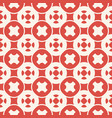 funky red and white geometric seamless pattern vector image vector image