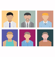 Geometric people vector image vector image