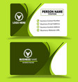 green multi color business card template psd vector image vector image