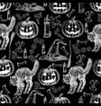 halloween holiday seamless pattern of vector image vector image