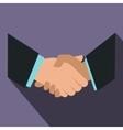 Handshake icon flat style vector image vector image