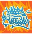 Happy Birthday Graffiti vector image vector image