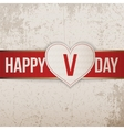 Happy Valentines Day realistic light Heart Label vector image vector image