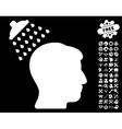 Head Shower Icon with Tools Bonus vector image vector image
