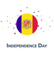 independence day of andorra patriotic banner vector image vector image