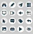 interface icons set collection of origami vector image vector image