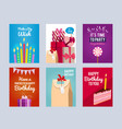 invitation cards for kids birthday party vector image vector image