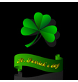 leaf clover origami vector image vector image