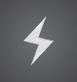 lightning sketch logo doodle icon vector image vector image