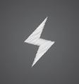 lightning sketch logo doodle icon vector image