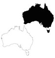 map australia isolated black vector image
