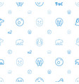 mascot icons pattern seamless white background vector image vector image