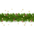 merry christmas and happy new year christmas tree vector image