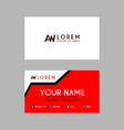 modern creative business card template with aw vector image vector image