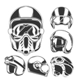Motorcycle Helmet Collection vector image vector image
