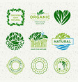 organic food labels and elements set for food and vector image vector image