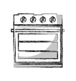 oven appliance isolated icon vector image vector image