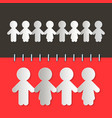 Paper Cut People vector image vector image