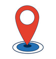 pointer map location navigation gps icon vector image vector image