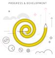progress development vector image vector image