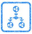 ripple cashflow structure framed stamp vector image vector image