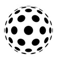 round circle big vector image