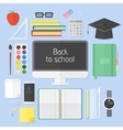 school education items vector image