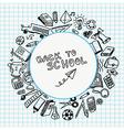 School supplies drawn vector image