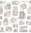 seamless pattern with film and digital vector image vector image