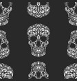 seamless pattern with sugar skulls design element vector image vector image