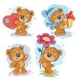 Set clip art of teddy bears vector image vector image