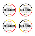 set four belgian icons made in belgium vector image vector image