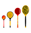 Set of Russian wooden spoons Cutlery in Russian vector image vector image