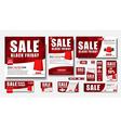 Set of web banner for Black Friday sales standard vector image vector image