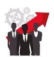 silhouette men business growth arrow finance vector image