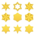 Six point stars collection vector image vector image